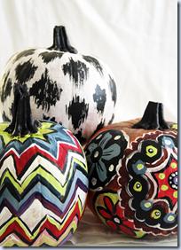 Painted pattern pumpkins
