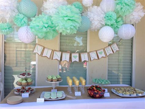 Bridal shower  Mint to Be! Tissue paper Pom decorations