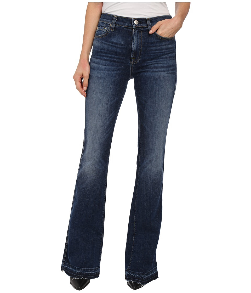7 For All Mankind - High Waist Vintage Bootcut w\/ Released Hem in La Palma Blue (La Palma Blue) Women's Jeans