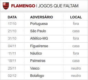 Flamengo_8-ultimas_rodadas (Foto: infoesporte)