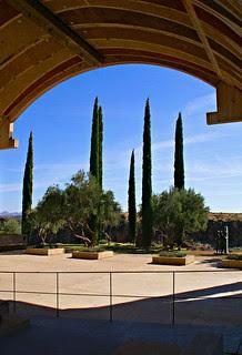 Arcosanti - Vault and park (edit)