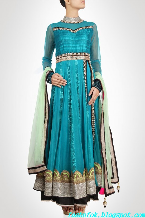 Anarkali-Gorgeous-Bridal- Wedding-Ankle-Length-Dress-by-Designer-Kiran-&-Shruti-Aksh-6