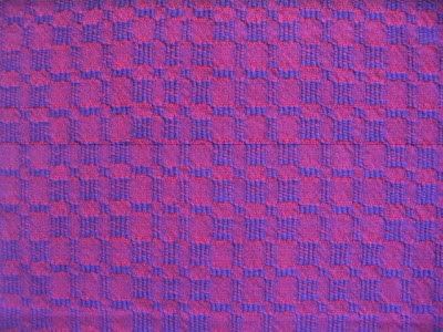 Red warp & purple weft.