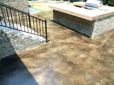 outdoor patio stained concrete  acid patios