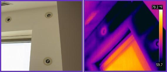 gaps in ceiling insulation