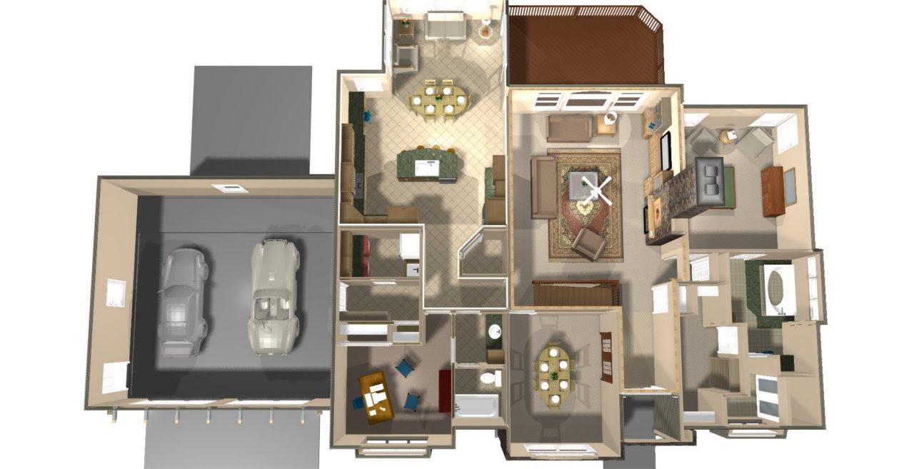 Top  view  Fl Plan   TJP Designs  Construction LLC