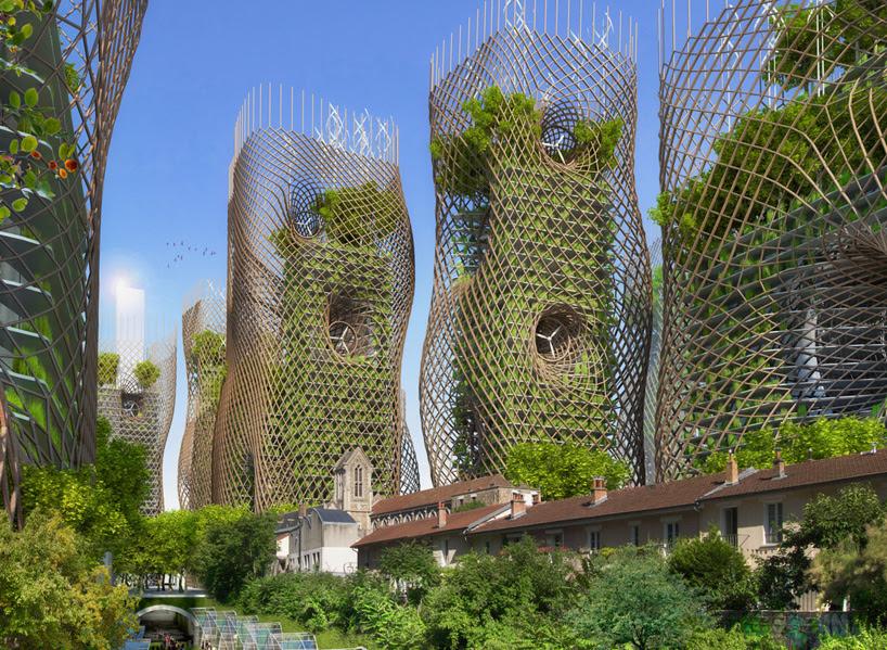 vincent callebaut architectures paris smart city 2050 green towers designboom 05