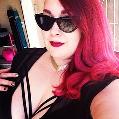 All ready to head out for our staycation!  Prescription sunnies, 70's collar, lane Bryant bra, asos curve dress. #stayca
