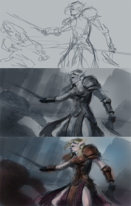 how to draw elf warcraft