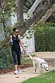 jordana brewster goes for a run with her pet pooch 01