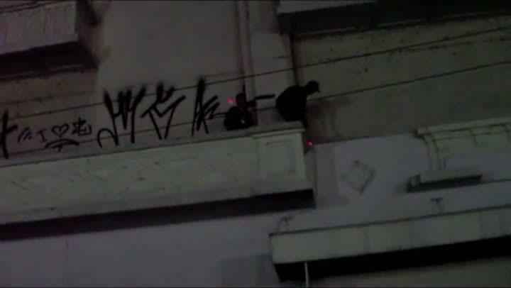 Guarda Municipal flagra ação de pichadores no Centro