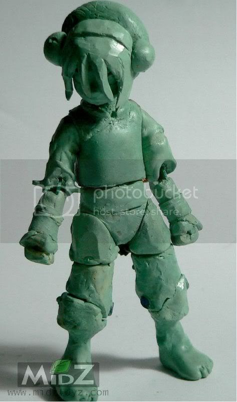 Toph action figure wax sculpt wip 060108/><br/><br/><div align=