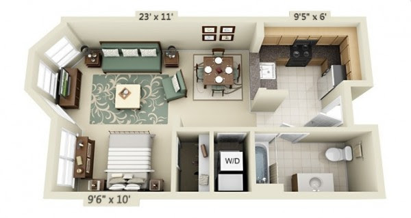 Try These Too 50 Studio Type House Interior Design And Single Bedroom Elegantly Rendered By Diffe Artists Are Taken From Home