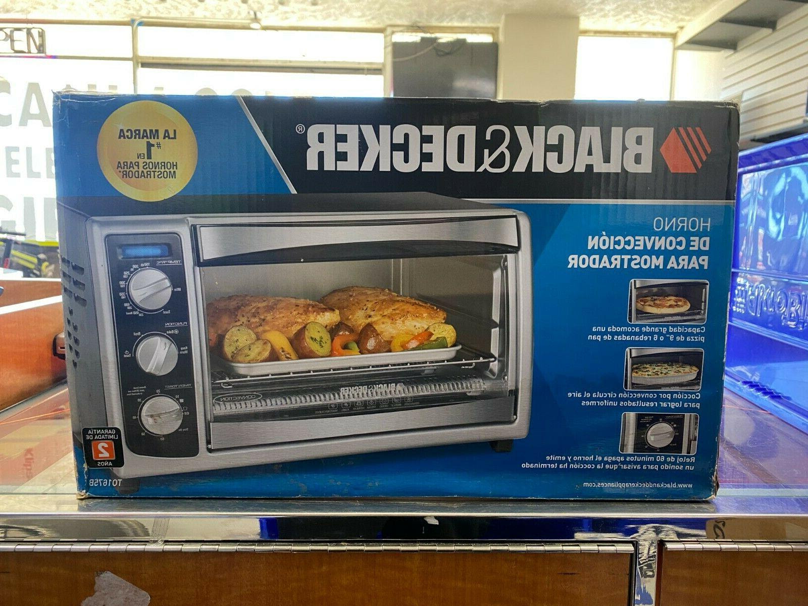 BLACK+DECKER TO1675B 6-Slice Convection Countertop Toaster Oven, Includes