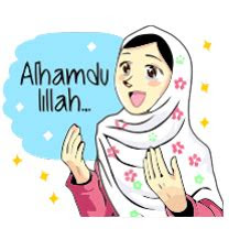 stiker update status gambar hijab anak muslimah png