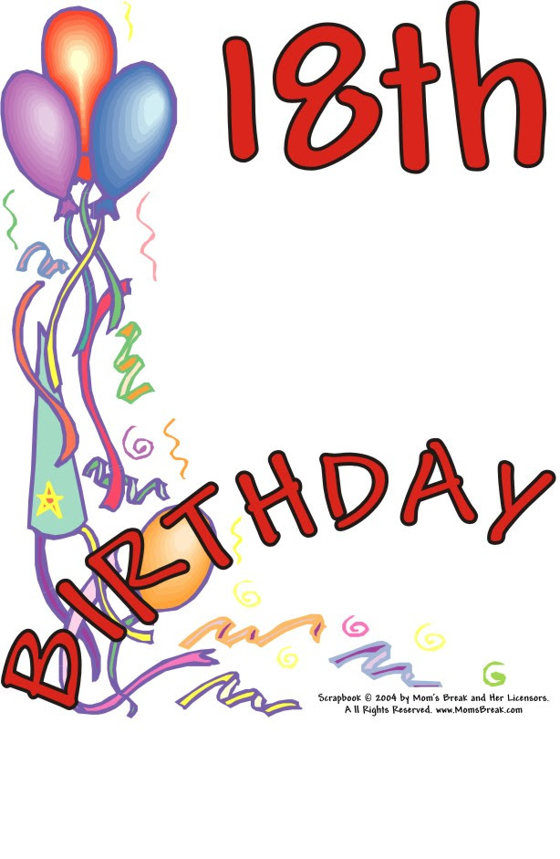 Free Happy 18 Birthday Pictures Download Free Clip Art Free Clip
