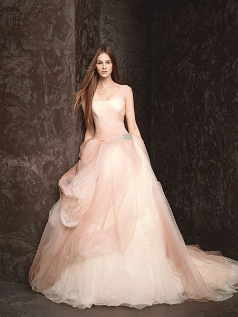 Pink, the New White: A Pretty Ombre Tulle Ball Gown by