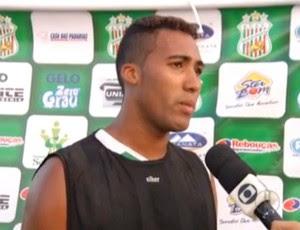 Douglas, meia do Baraúnas (Foto: Reprodução/Inter TV Cabugi)