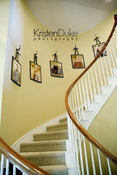 Stairway Wall Decorating Ideas on Pinterest