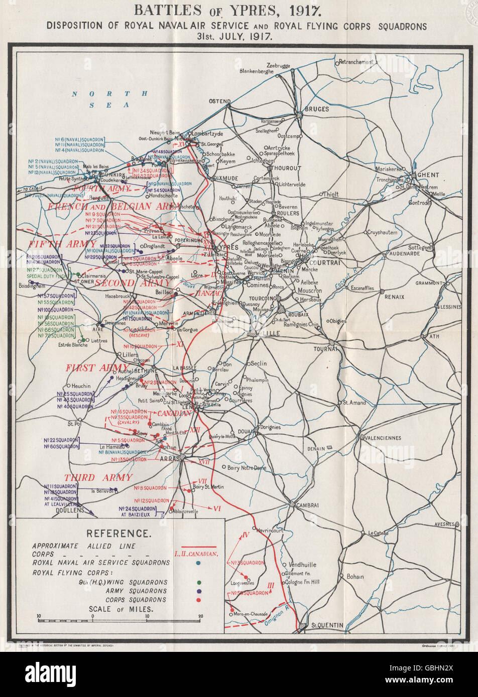 WW1 WESTERN FRONT: Battles of Ypres July 1917. RNAS & RFC ...