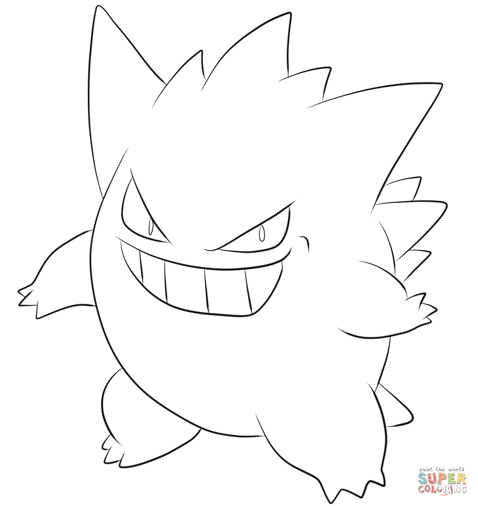 gengar coloring pages4