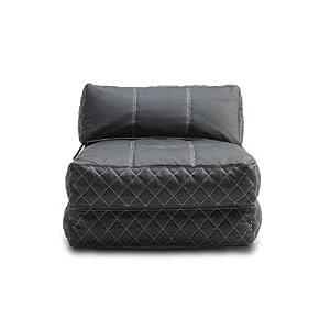 Amazon.com - Austin Bean Bag Chair Bed Color: Black ...