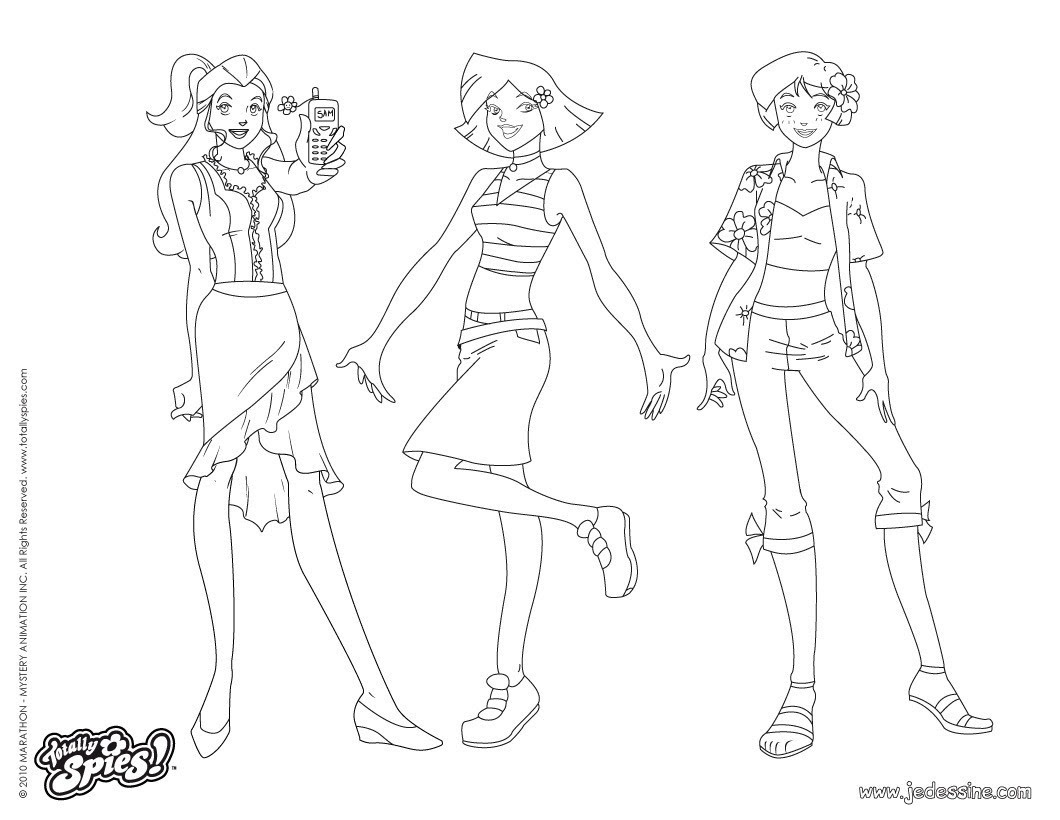 Alex et Clover Fashion 3 Coloriage Coloriage TOTALLY SPIES Coloriage