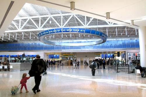 Terminal 5 at JFK International Airport, New York.