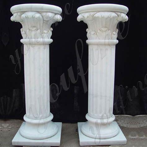 Home Depot Cheap Wedding Columns Pure White Marble Pillar