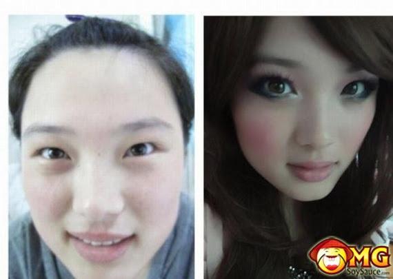 muka cantik tapi fake , .