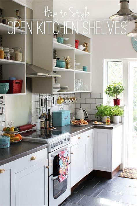 open kitchen shelves    wanna