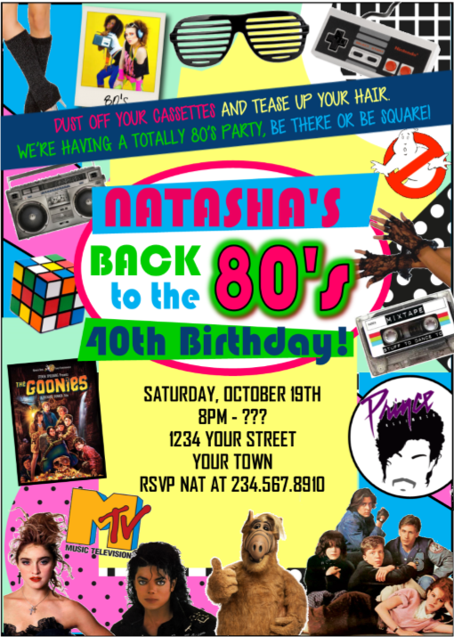 Totally Awesome 80s Theme Party Ideas And 80s Party Ideas For Games