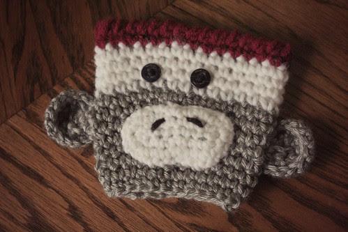 sock monkey cozy