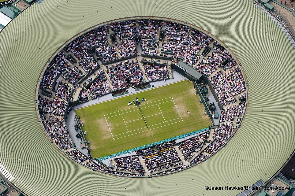 Ace view: Centre Court at the Wimbledon Lawn Tennis Club