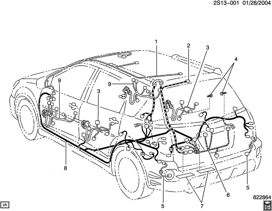 Pontiac Vibe Radio Wiring Harnes Diagram