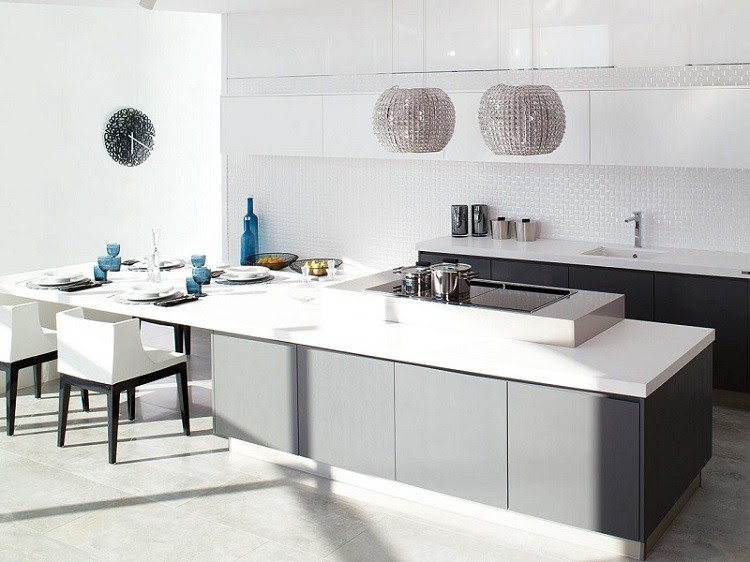 Moderne Kücheninsel - Küche mit Kochinsel gestalten