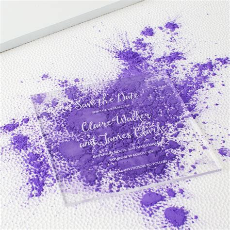 Acrylic Wedding Invitation   Twenty Seven