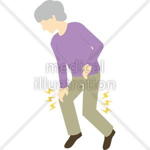 ひざ足の症状のイラスト 無料の医療イラスト素材