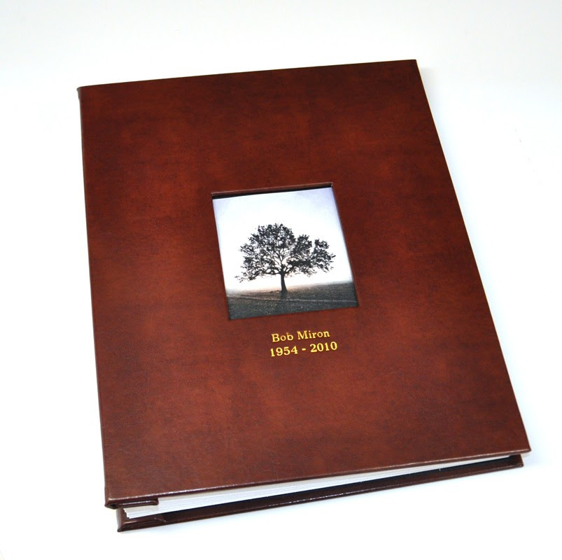 Memorial Guest Book Archival Quality Funeral Guest Book Blue Sky