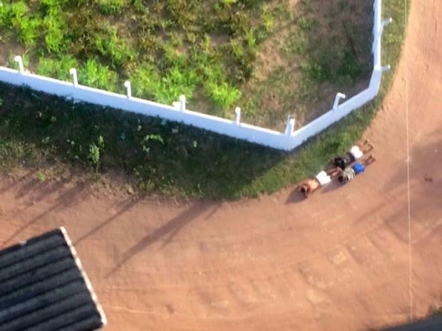 Presos foram recapturados após buscas com helicóptero Potiguar I (Foto: Divulgação/PM)