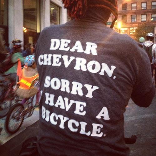 Dear Chevron, sorry I have a bicycle. #sfcm20