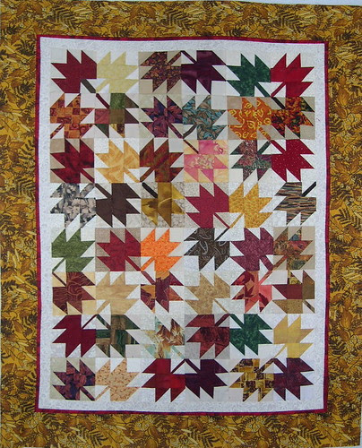 Maple Leaf WIP with Borders