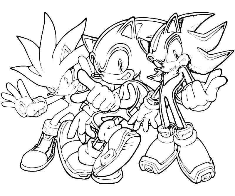 Sonic the Hedgehog Printable Coloring Pages for Kids