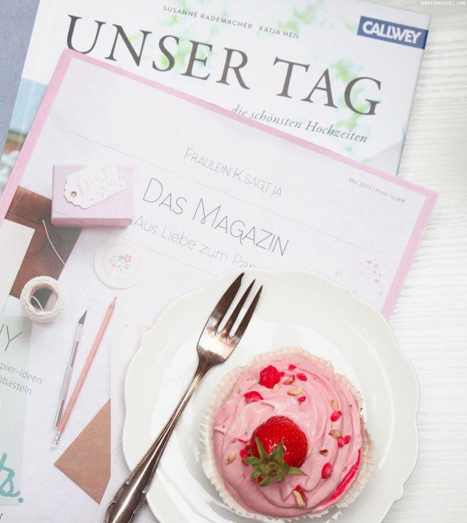 Fräulein K sagt ja, Magazin, Papierliebe, Erdbeermuffins