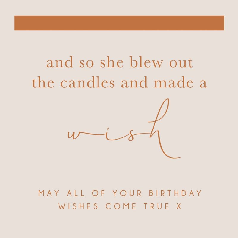 Make A Wish Birthday Card Karenza Paperie