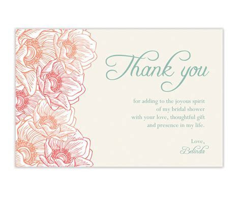 Bridal Shower Thank You Cards Wording   99 Wedding Ideas