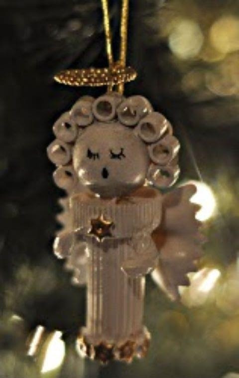 Pasta Angel Homemade Christmas Ornament  AllFreeChristmasCrafts.com