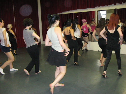 Michelle L'Amour Teaching at the New York School of Burlesque