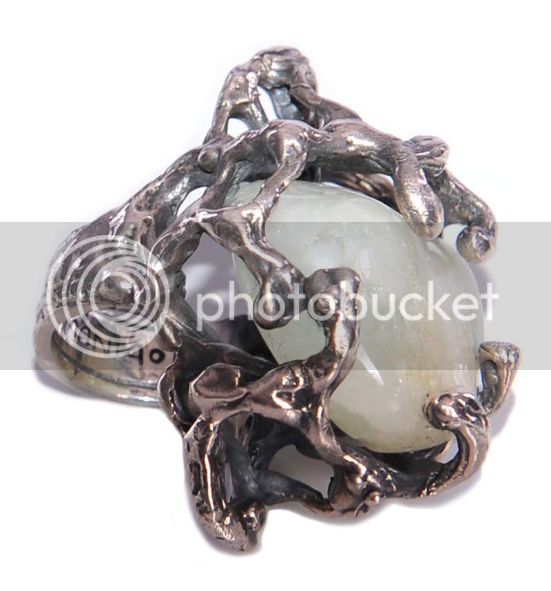 moonstone,silver,ring