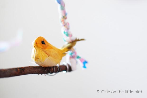 diy: sweet bird hanging
